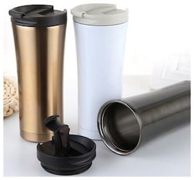 Right Traders 1pc 480ml Double Wall Stainless Steel Coffee Thermos Cups Mugs Thermal Bottle