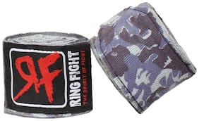 """Ring Fight Camo Contender 180"""" Grey Hand Wrap 1 Pair"""