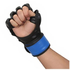 Ring Fight MMA UFC Grappling Gloves Black/Blue L/XL