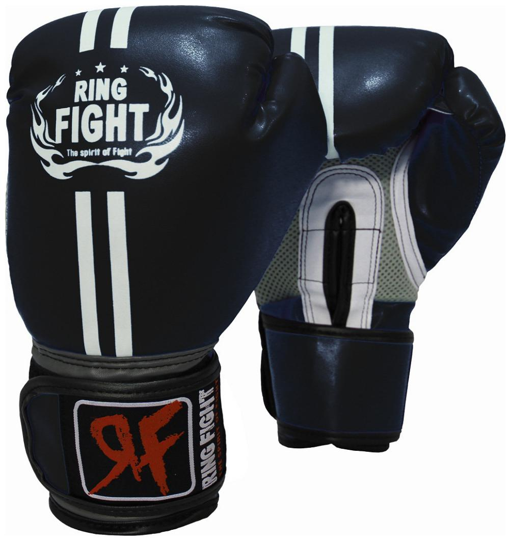 Ring Fight Pro Boxing Gloves Black by Ceela Sports
