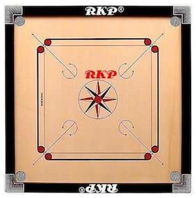 RKP 26 Inch Carrom Board With Coins , Striker & Powder (Medium)