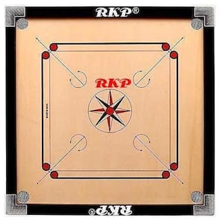 RKP Full Size  Carrom Board With Wooden coins , Powder & Striker