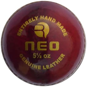 RMAX Red Neo-A Leather Cricket Ball ( 4 Part Ball, Pack of 1 )