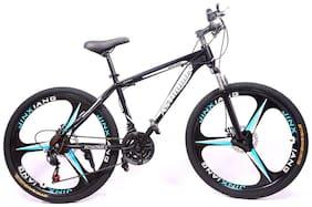 Roadmill Adtrodon Mountain bike with alloy wheels BLACK