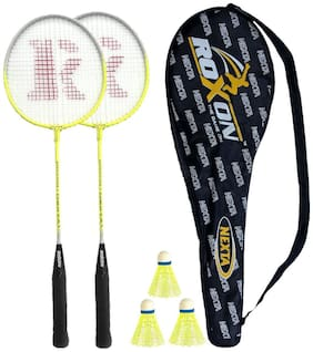 Roxon Nexta Badminton Racquet with cover and 3 pieces nylon shuttlecock