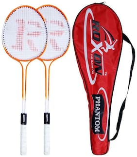 Roxon Phantom Badminton Racquet set with cover assorted colour