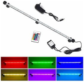 S SMIFUL LED Aquarium Light, Fish Tank Light RGB Color Changing  Glass Lights