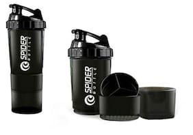 SAG Spider Protein Shaker Bottle-Black Color 500ML