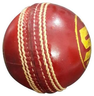 Sangpro Cricket Leather Ball -Red (Pack Of 01 Ball)