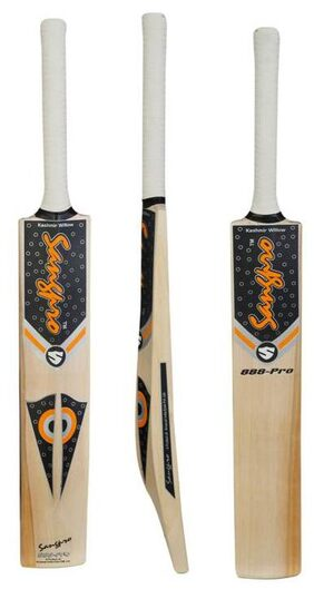 SANGPRO -888 Pro Kashmir Willow Bat - Orange (Full size) with Cover.