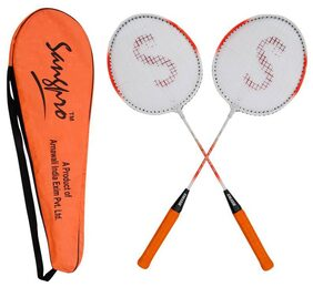 SANGPRO  - Badminton Racket Set - SMASH (with assorted color full cover)