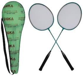 SANGPRO - BOKA (Green) Badminton Racket Set of 02 pcs - (with full cover)