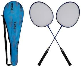 SANGPRO - BOKA (Blue) Badminton Racket Set of 02 pcs (with full cover)