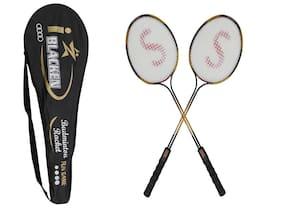 SANGPRO - I - Blaken (Orange) Badminton Racket Set of 02 pcs (with full cover)