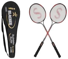 SANGPRO - I - Blaken (Red) Badminton Racket Set of 02 pcs (with full cover)