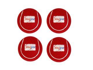 SANGPRO - RED Cricket Tennis Balls  (Set of 04 pcs)