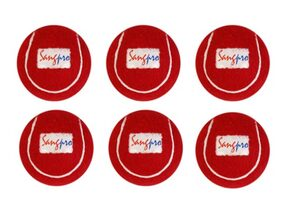 SANGPRO - RED Cricket Tennis Balls (Set of 06 Balls)