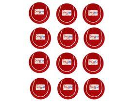 SANGPRO - RED Cricket Tennis Balls (Set of 12 pcs)