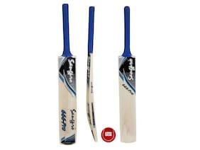 SANGPRO - Select Willow Cricket Bat 666 Pro - Blue (Full Size) Free 01 Tennis Ball