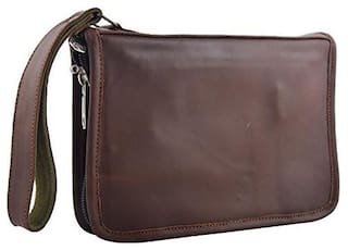 Schieben Leather Revolver Case Diary Racquet Carry Case/Cover Free Size (Brown)