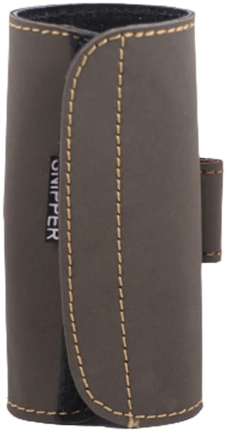 Schieben Leather .32 Revolver/Pistol Cartridge Pouch Racquet Carry Case/Cover Free Size (Grey)