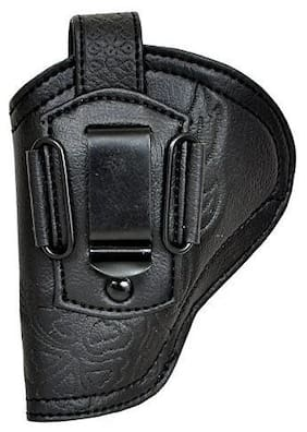 Schieben Leather .32 Bore Engraved Black Free Size Clip Cover Racquet Carry Case/Cover Free Size (Black)
