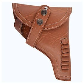 Schieben Revolver Half Cover with Belt Racquet Carry Case/Cover Free Size (Brown)