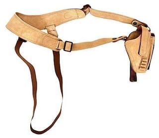 Schieben Swed Leather Calf Brown Chest Holster Pistol/Gun Cover Free Size (Beige)