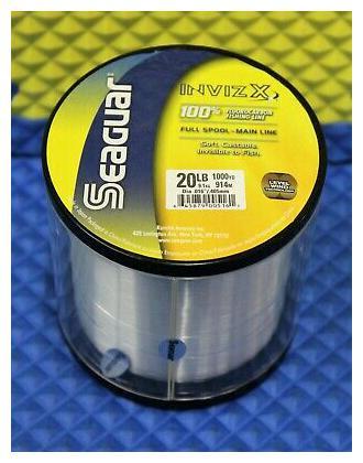 SEAGUAR RED LABEL 100/% Fluorocarbon Line 20lb//1000yd 20 RM 1000 FREE USA SHIP!