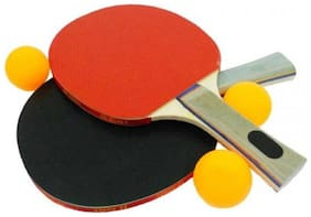 Set of Table Tennis Kit, rackets and balls, racket bag