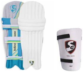 SG Batting Legguard ThighGuard Kit (1 Pair Optipro Legguard + 1 Piece Test Right Hand Thigh Guard), Youth