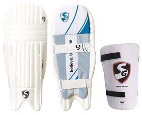 SG Batting Legguard ThighGuard Kit (1 Pair Proflex Legguard + 1 Piece Test Right Hand Thigh Guard), Men's