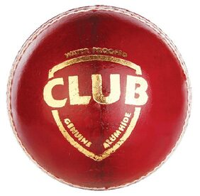 SG Club Leather Cricket Ball-Red