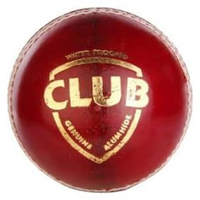 Sg Club Leather Cricket Cricket Ball-Red