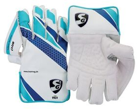 Sg Club Multi Color Wicket Keeping Gloves (Size-L)