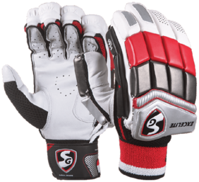 SG Excelite Cricket Batting GloveWhite And Red (Size-L)