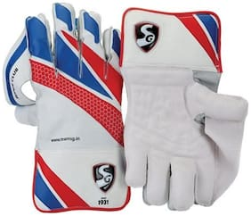 Sg Super Club Wicket Keeping Gloves-Blue And Light Green