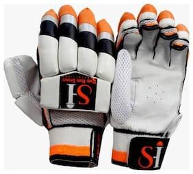 sh sports SH-PBG Batting Gloves (Free Size, Orange, Black)