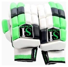 sh sports SH-PBG Batting Gloves (Free Size, Green, White)