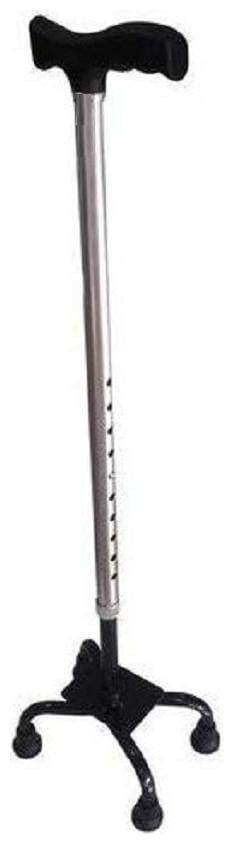 shakuntla High Quality Imported light weight Quadripod 4-Leg Height adjustable Walking Stick (Made by Aluminium)