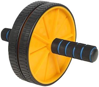 Shopeleven Ab Wheel Roller Anti Skid Double Wheel Total Body AB Roller Exerciser (Multicolor)