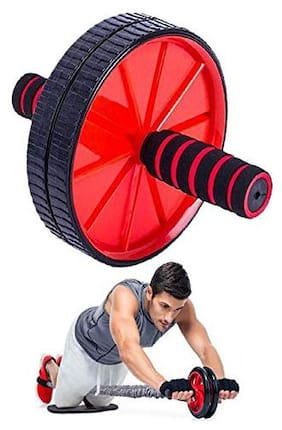 Shopeleven Abs Wheel Roller Core Abdominal Workout and Belly Fat Burner Ab Roller for Abs Exercise Equipment for Home Gym (Assorted)