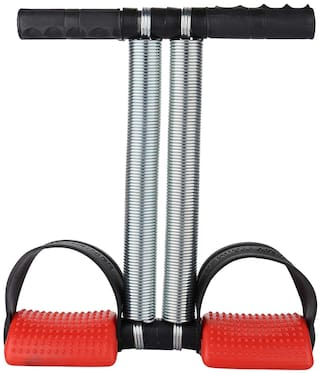 Shopeleven Double Spring Heavy Quality RED Pedal Tummy Trimmer ABS Exerciser for Men & Women