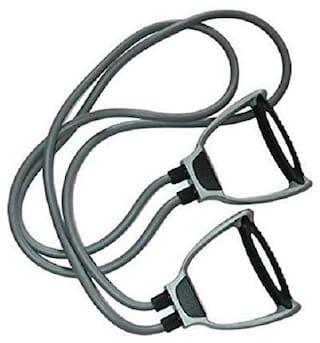 Shopeleven Double Toning Tube Full Body Home Gym Resistance Tube Resistance Tube[Grey] packof 1