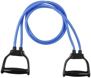 Shopeleven Resistance Toning Tube -with Soft Handle Strength Training and Muscle Building Best Resistance Band for Stretching Workout and Body Toning