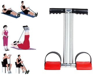Shopeleven Stainless-Steel Double Spring Tummy Trimmer-Abs Exerciser-Waist-Trimmer