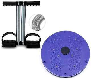 Shopeleven Tummy Trimmer Abs Exerciser & Twister Combo Abdominal Toning Fat Loss Abs Exercise Equipment Home Gym for Men Women (Set of 2)