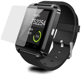 ShopiMoz U8 Bluetooth Wrist Watch Phone call Android IOS iPhone Samsung black Smartwatch (Black Strap Regular)