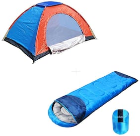 Shopper52 Camping Tent for Picnic/Hiking/Trekking Tent 2 Person Tent With Camping Bag Sleeping Bag - 2TENTSLEEPING