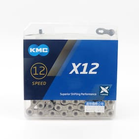 silver - KMC X12 12 speed  MTB Mountain Bike Bicycle Chain  126L  Double x Bridg